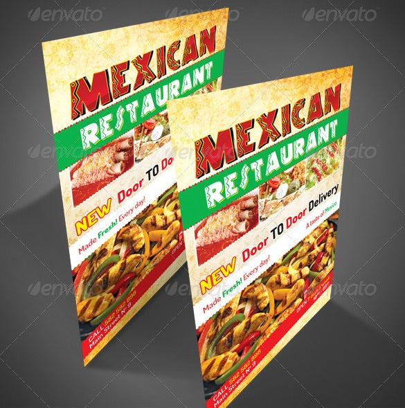 mexican styled restaurant flyer design