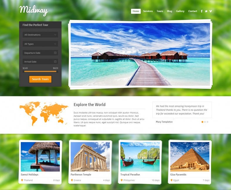 midway wordpress template 788x647
