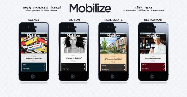 Mobilze Mobile Templates