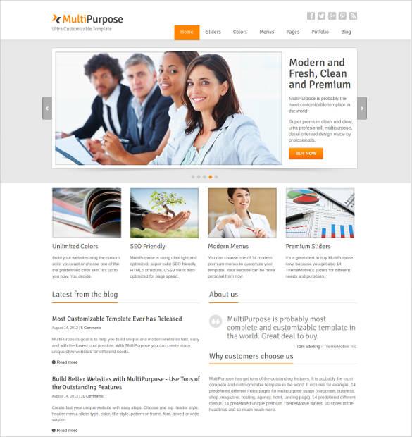 multipurpose responsive website html5 template1