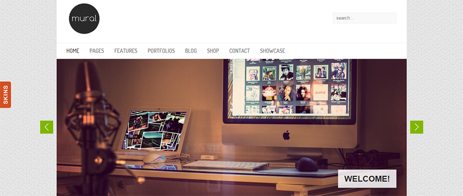 Mural Business Portfolio WordPress Theme