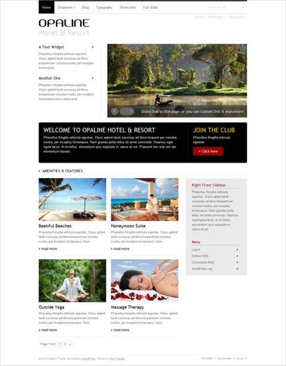 opaline wordpress website template1