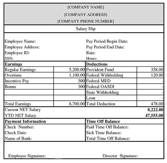 Stunning Free Payslip Template South Africa Images - Best Resume ...