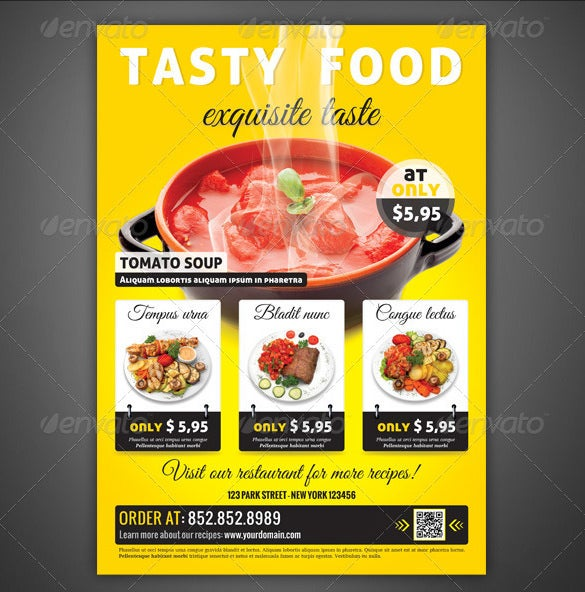 Restaurant Flyer Template 56 Free Word PDF PSD EPS InDesign – Restaurant Flyers Templates