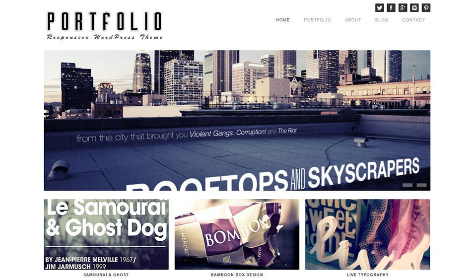 portfolio theme wordpress responsive