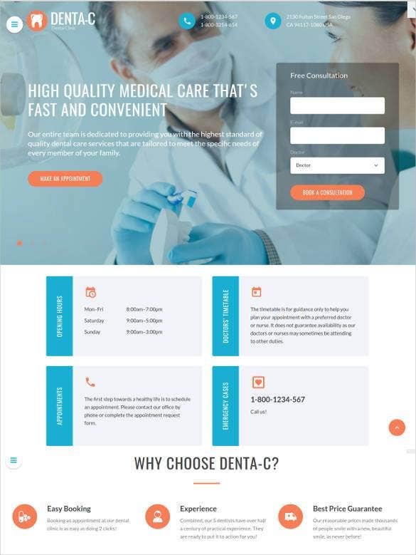 premium dentistry responsive website template1