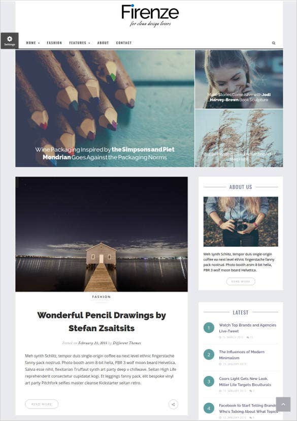 responsive blog html5 website template3