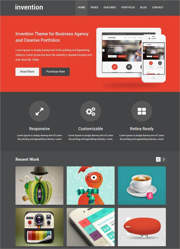 responsive design html5 template1