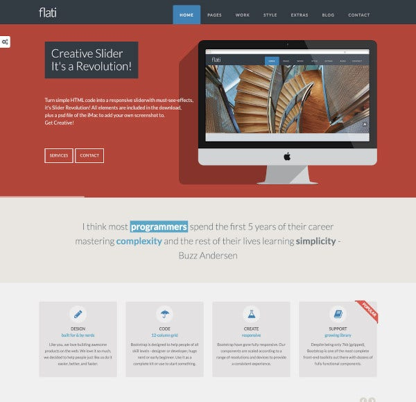 responsive flat design bootstrap template1