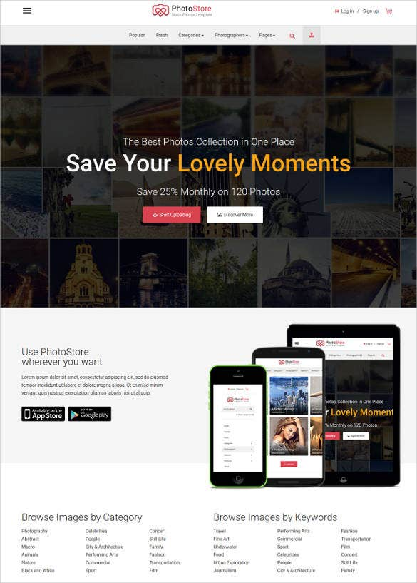 responsive phone ecommerce html5 template