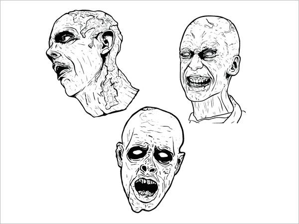 scary zombie vectors