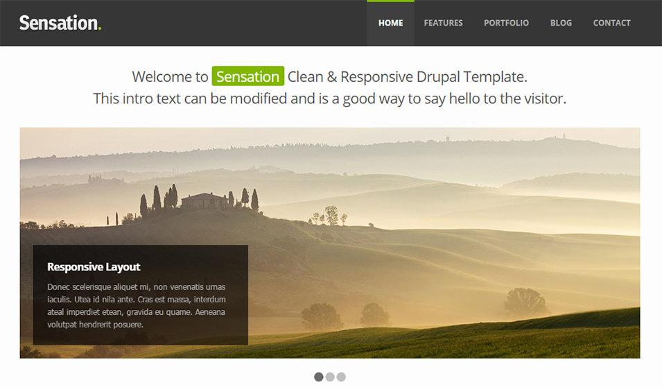 Sensation - Premium Responsive Drupal Theme