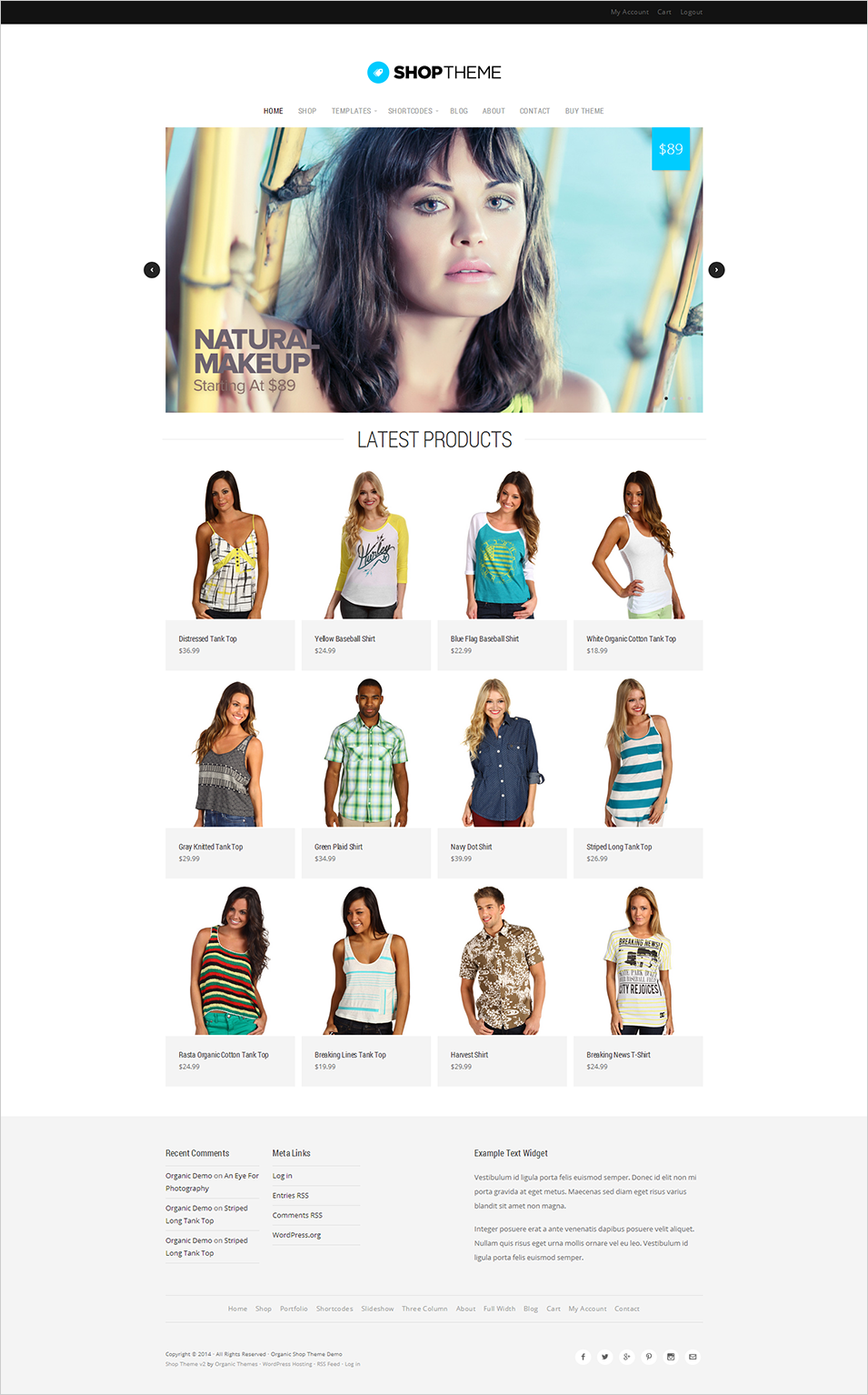 shop theme by organic themes