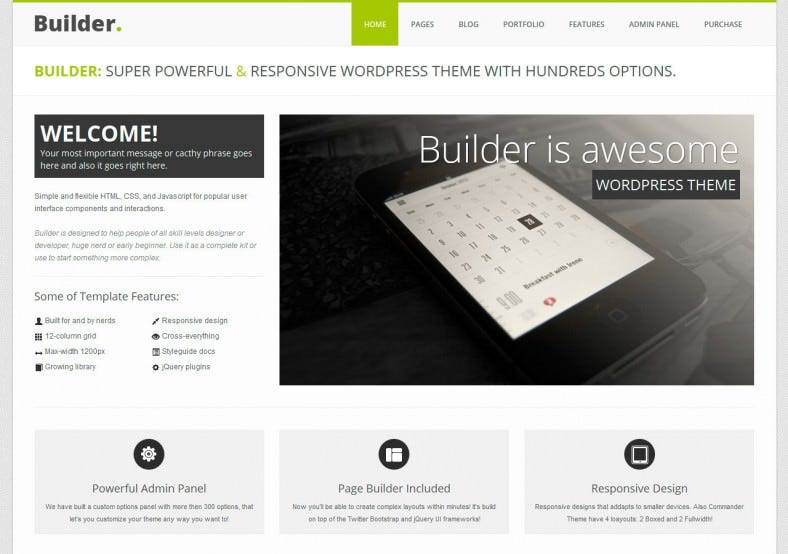36 mobile bootstrap themes templates free premium templates. Black Bedroom Furniture Sets. Home Design Ideas