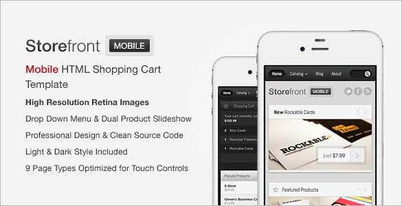 storefront mobile html shop template