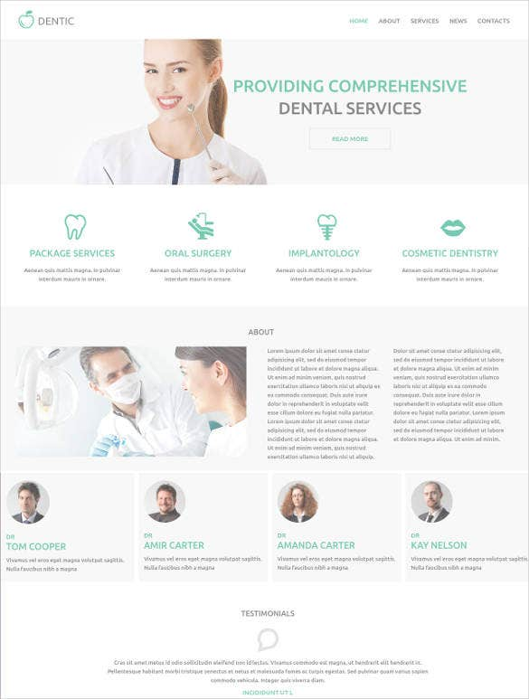 stylish dentistry drupal website theme