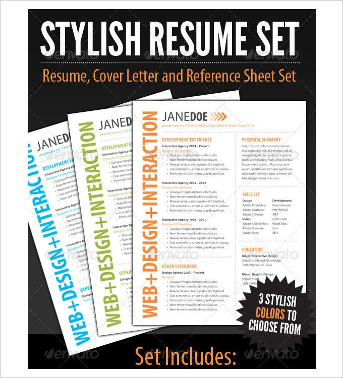 stylish resume template1