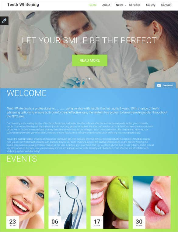 teeth whitening website template