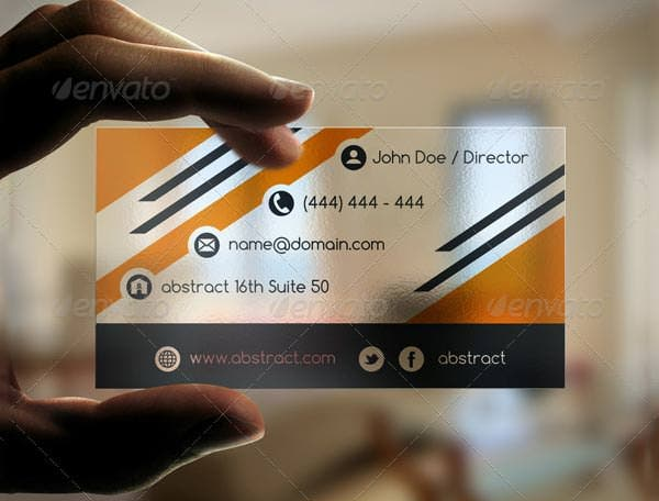 transparent creative business card