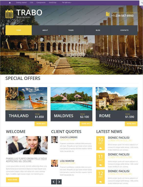 travel agency responsive website template1