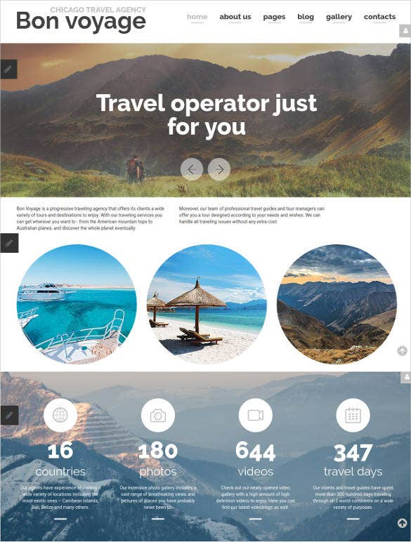 travel agency vacation responsive joomla template
