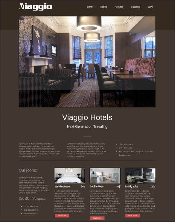 viaggio wordpress website template1