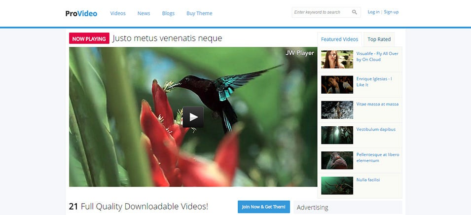 ProVideo Fully Responsive Drupal Theme