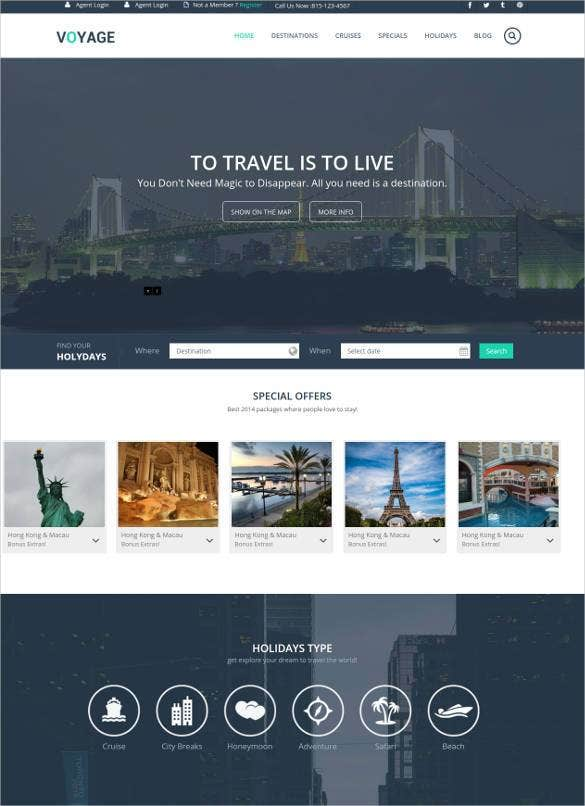 voyage travel responsive website template1