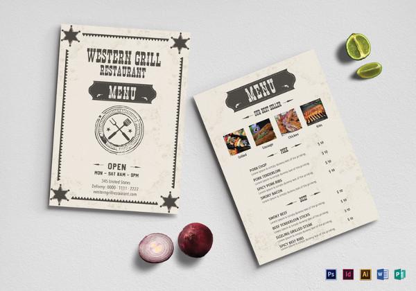 western-grill-restaurant-menu-psd-template