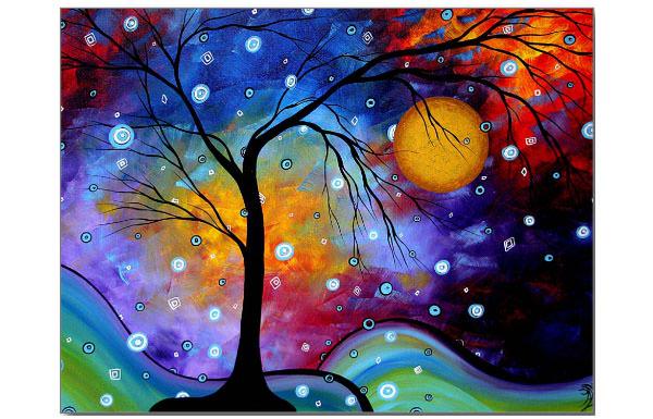 winter sparkle circle postcard