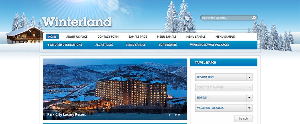 winterland wordpress travel theme
