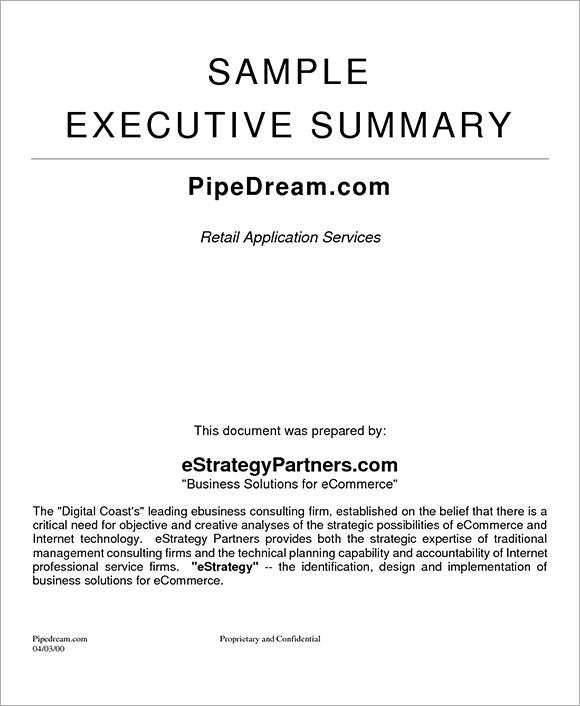 executive summary template word – Executive Summary Template Word