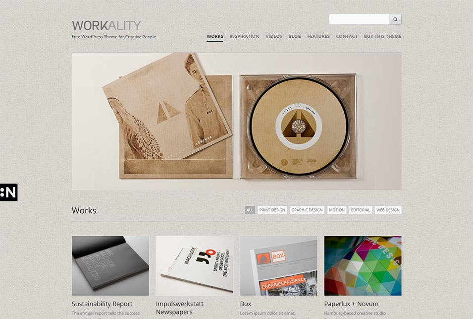 works workality free wordpress theme for creative people