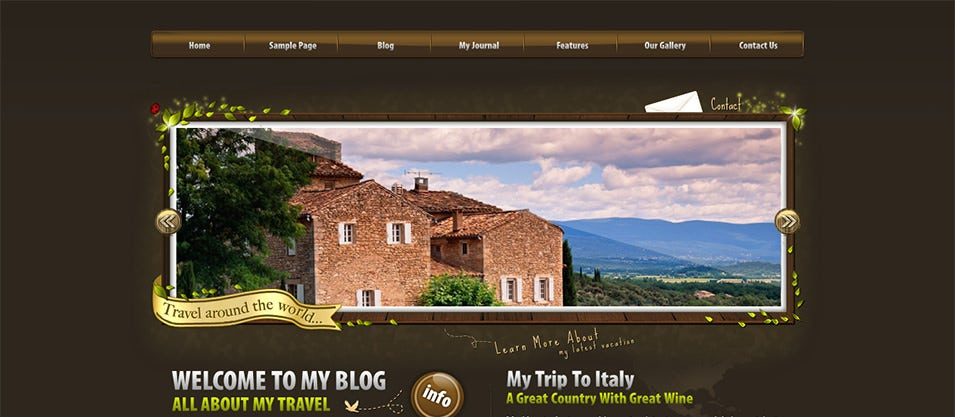 World Traveler WordPress Template