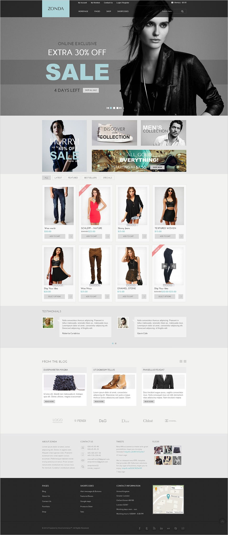 Zonda WordPress Theme