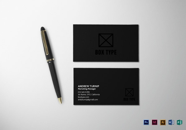 40 excellent black business cards to download free premium black business card template in word publisher format cheaphphosting Images