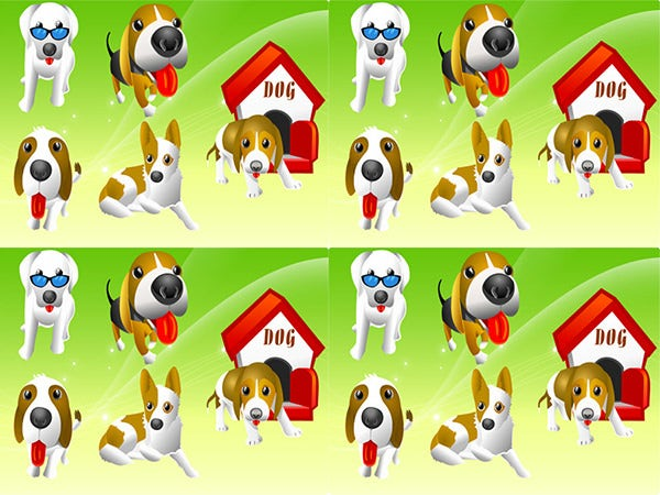 ix different dogs free vectors