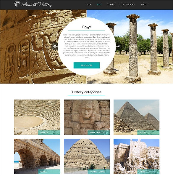 museum responsive website template