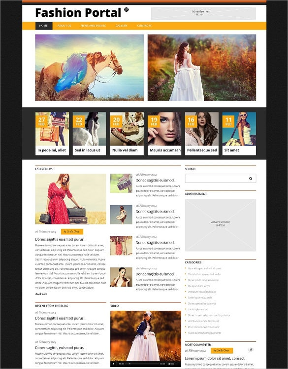 fashion blog responsive joomla template1