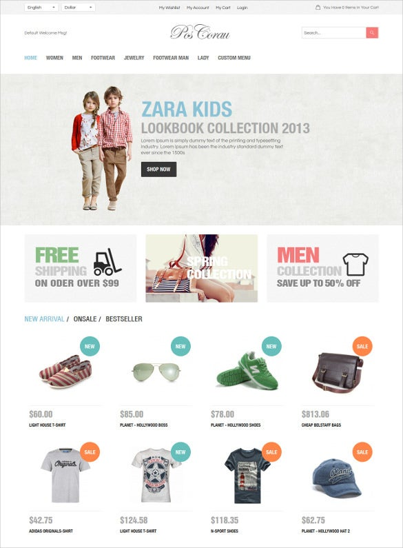 fashion designer responsive prestashop website theme