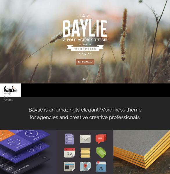 baylie fullscreen parallax template