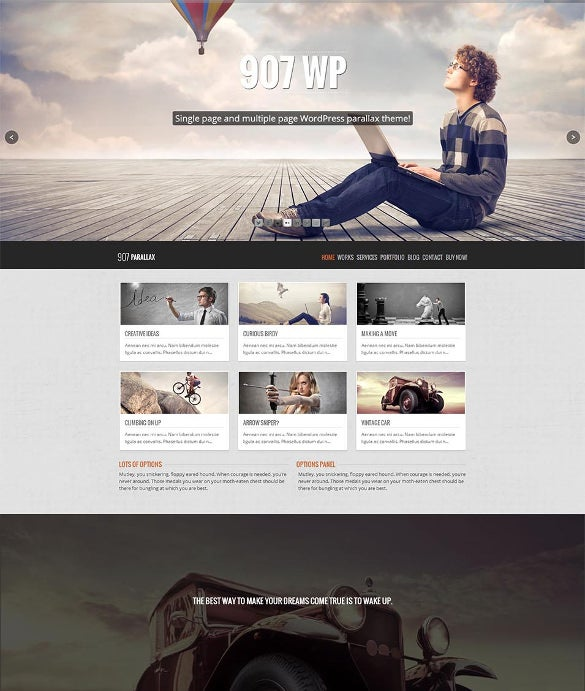 multi one page parallax