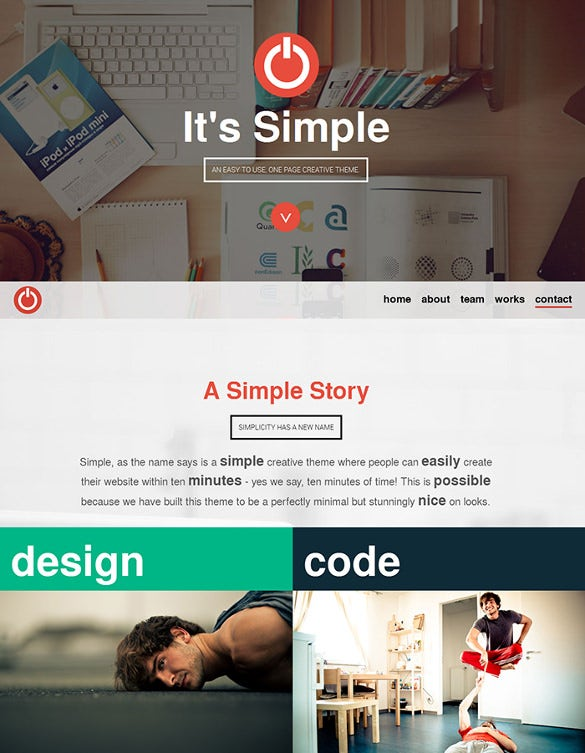 Easy One Page Parallax Responsive Html5