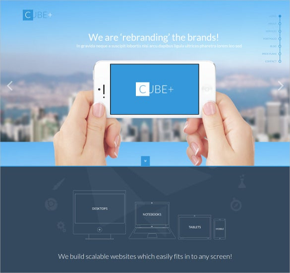 Creative One Page Parallax Html Template