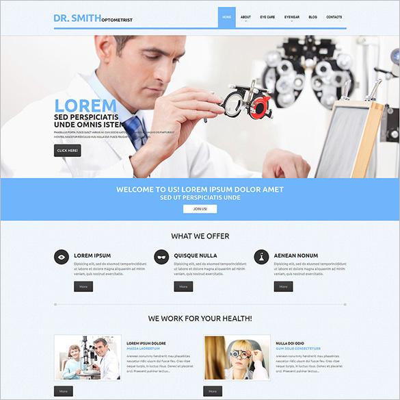 optometrists wordpress theme1