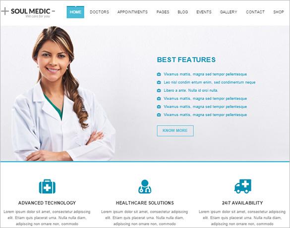 soulmedic flat responsive medical health theme