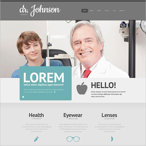 optometrists responsive wordpress theme1
