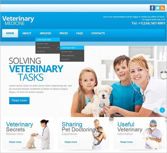 vet responsive website template1