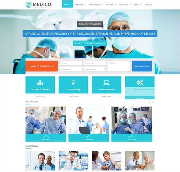 medico medical health html5 template1