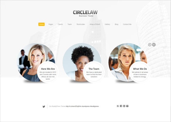 lawyers businesses website template